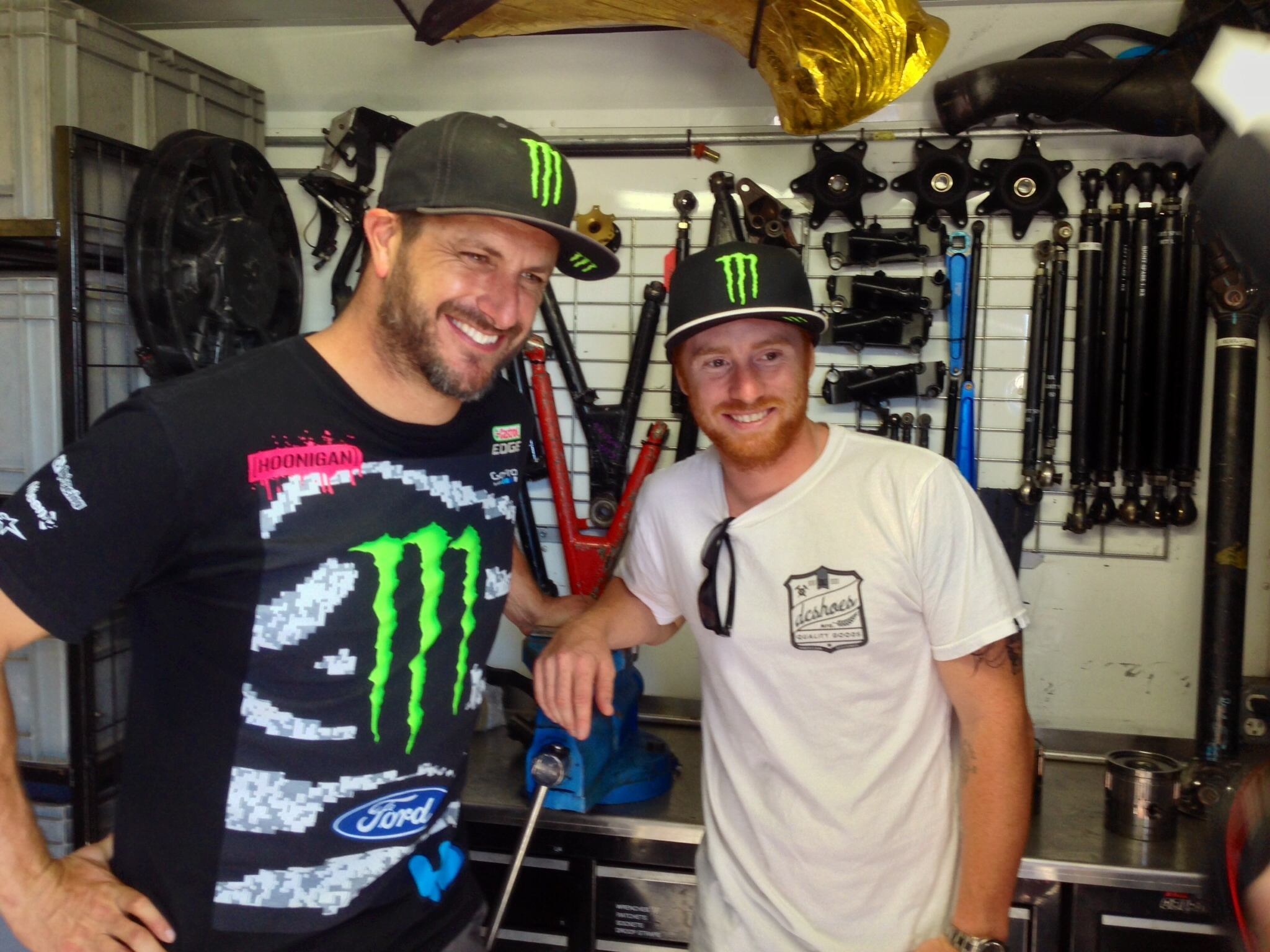 This summer I was thinking about making the switch to four wheels, J/K. This is me hanging out with Ken Block during Rallycross near Long Beach a few weeks ago.